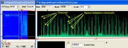 Общий вид частотного плана MT-63 1000 Hz