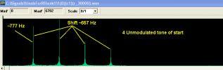 Частоты и разнос немодулированных тонов
